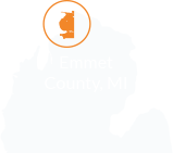 map showing Emmet County